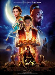 "Projection de ""Aladdin"" en plein air"